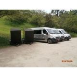 empresa de aluguel de vans para traslados Glicério