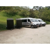 locação de vans para hopi hari Jardins