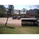 micro-ônibus de transporte