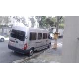 quanto custa alugar van para viagem com motorista Vila Clementino