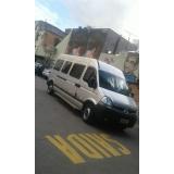 quanto custa transporte de van para festas de aniversário Parque São Rafael