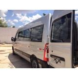 serviço de vans para translados turísticos Cidade Jardim
