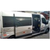 transporte de van para festas de aniversário Parque do Carmo
